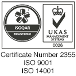 ISOQAR and UKAS Registered Logo