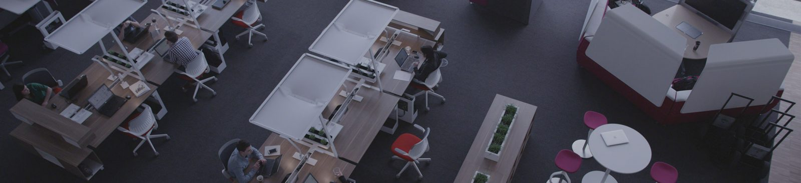 What is open office design? image