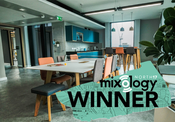 Penketh Group Showroom with Mixology Award winners logo