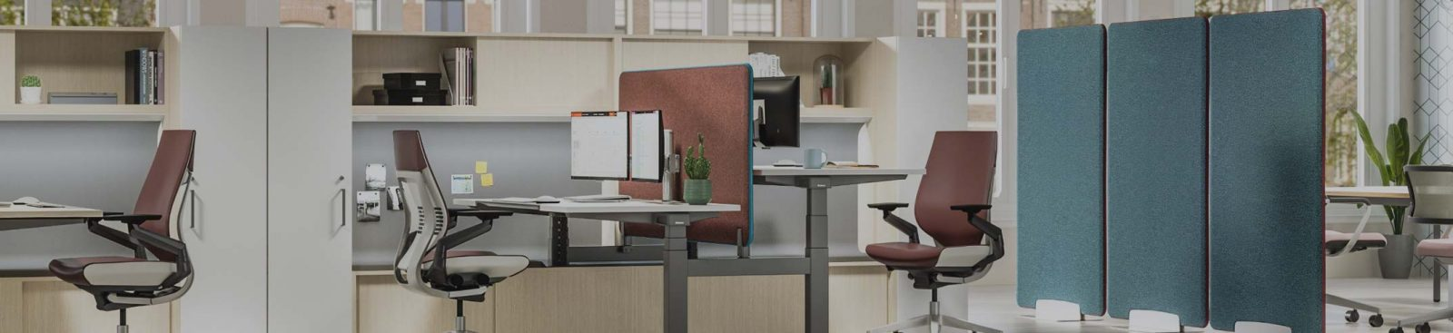 5 alternative space division solutions to plastic desk screens image