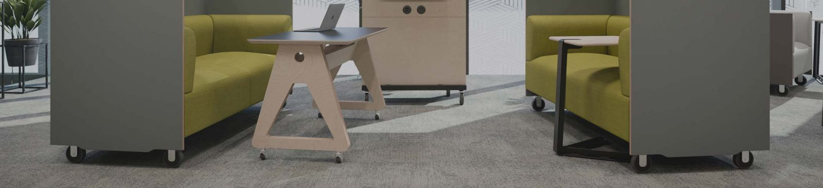 Will furniture on wheels work for my workspace? image